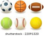 vector illustration   balls for ... | Shutterstock .eps vector #22091320