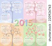 Calendar 2015 Year. Four...