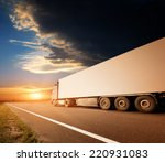 the truck on asphalt road... | Shutterstock . vector #220931083
