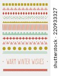 vintage christmas and new year...   Shutterstock .eps vector #220933327