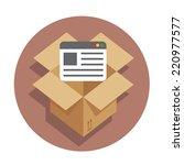 vector flat icon web development   Shutterstock .eps vector #220977577