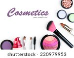 beautiful decorative cosmetics... | Shutterstock . vector #220979953