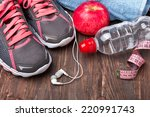 sport equipment. sneakers ... | Shutterstock . vector #220991743