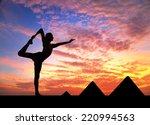 Man Doing Yoga At Egyptian...