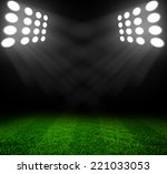stadium lights at night and... | Shutterstock . vector #221033053