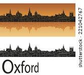 oxford skyline in orange