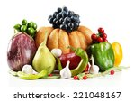 fresh organic vegetables ... | Shutterstock . vector #221048167