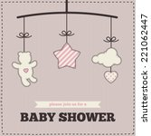 baby shower invitation ... | Shutterstock .eps vector #221062447