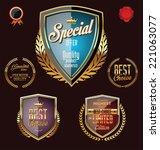 golden premium quality retro... | Shutterstock .eps vector #221063077