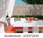 outdoor patio seating area. big ... | Shutterstock . vector #221072233