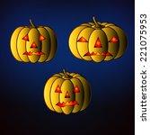 halloween background with... | Shutterstock .eps vector #221075953