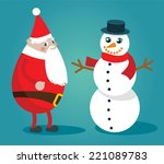 merry christmas and happy new... | Shutterstock .eps vector #221089783