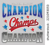 sport graphic  team  champion ... | Shutterstock .eps vector #221093053