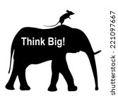 think big. mouse riding an... | Shutterstock . vector #221097667