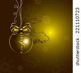 christmas vector background. | Shutterstock .eps vector #221110723