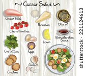 vector ingredients for caesar... | Shutterstock .eps vector #221124613