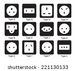 electric outlet  sockets on... | Shutterstock .eps vector #221130133