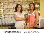 multi ethnic female sales... | Shutterstock . vector #221148973