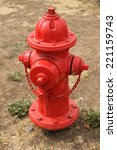 Red Fire Hydrant In Dirt And...
