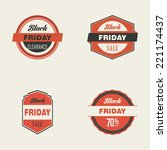 abstract black friday labels on ... | Shutterstock .eps vector #221174437