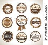 bakery retro badges | Shutterstock .eps vector #221220307