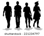 silhouettes big crowds people... | Shutterstock .eps vector #221234797