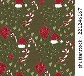 vector christmas pattern... | Shutterstock .eps vector #221246167