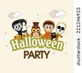 kiddish poster for halloween... | Shutterstock .eps vector #221246923