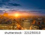 spectacular view of madrid at... | Shutterstock . vector #221250313