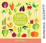 vegetables vector illustration | Shutterstock .eps vector #221254777