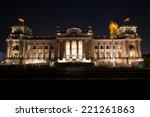reichstag building in berlin  ... | Shutterstock . vector #221261863