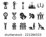 competition icons   illustration | Shutterstock .eps vector #221286523