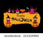 happy halloween banner | Shutterstock .eps vector #221324983