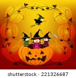 halloween background with trick ... | Shutterstock .eps vector #221326687