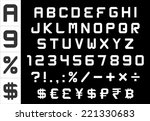 alphabet  numbers  currency and ... | Shutterstock .eps vector #221330683