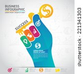 infographic bussiness | Shutterstock .eps vector #221341303
