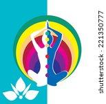 vector set of meditation and... | Shutterstock .eps vector #221350777