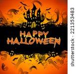 happy halloween | Shutterstock . vector #221353483