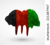 flag of afghanistan blot with... | Shutterstock .eps vector #221387947