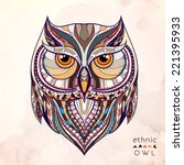 ethnic owl   african   indian   ... | Shutterstock .eps vector #221395933