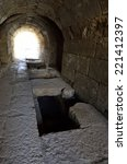 Small photo of Ancient underground passage in Agrippa palace, Banias National park, Israel.