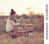 Small photo of well-read girl