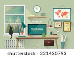 illustration of  modern... | Shutterstock .eps vector #221430793