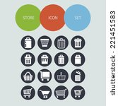 market vector icon set | Shutterstock .eps vector #221451583