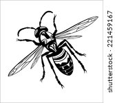 monochrome hornet | Shutterstock .eps vector #221459167