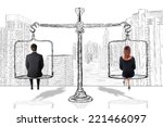 equality woman man concept | Shutterstock . vector #221466097