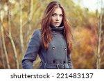 portrait of young beautiful...   Shutterstock . vector #221483137