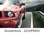 red sport car | Shutterstock . vector #221499853