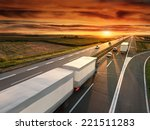 truck in motion blur on the... | Shutterstock . vector #221511283