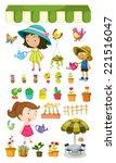 illustration of the kids... | Shutterstock . vector #221516047